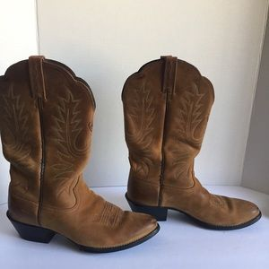 ARIAT Heritage Pointy R Toe Brown Cowboy Boots